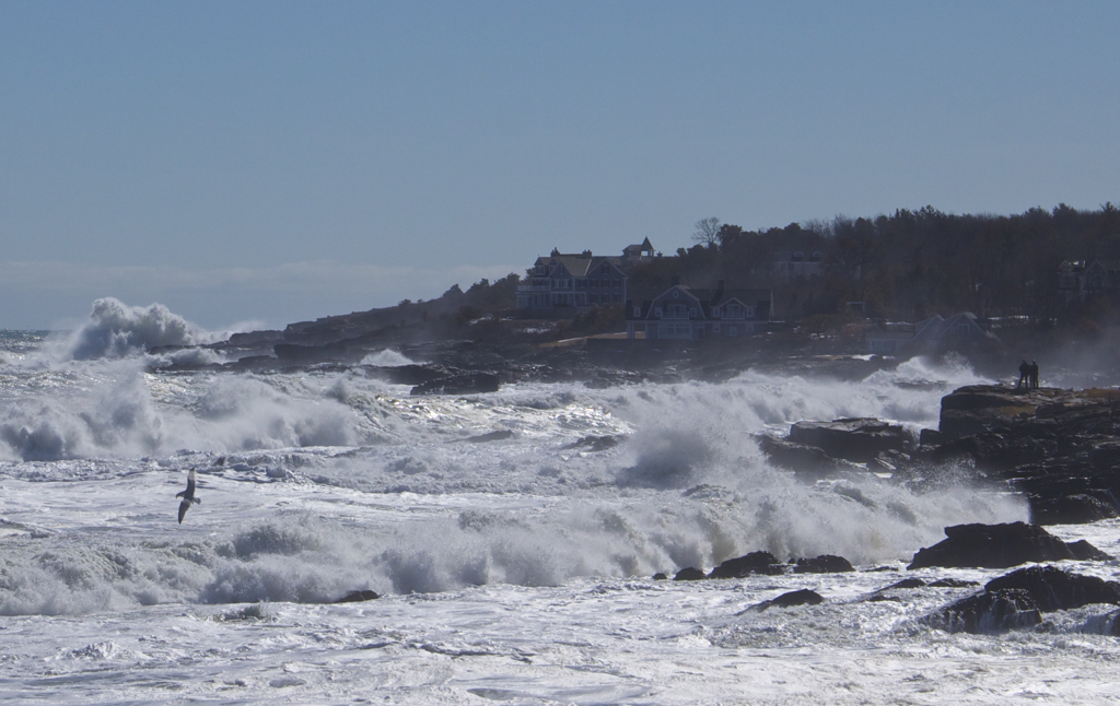 Awesome walk along the Marginal Way today... and this was 2 hours after high tide!