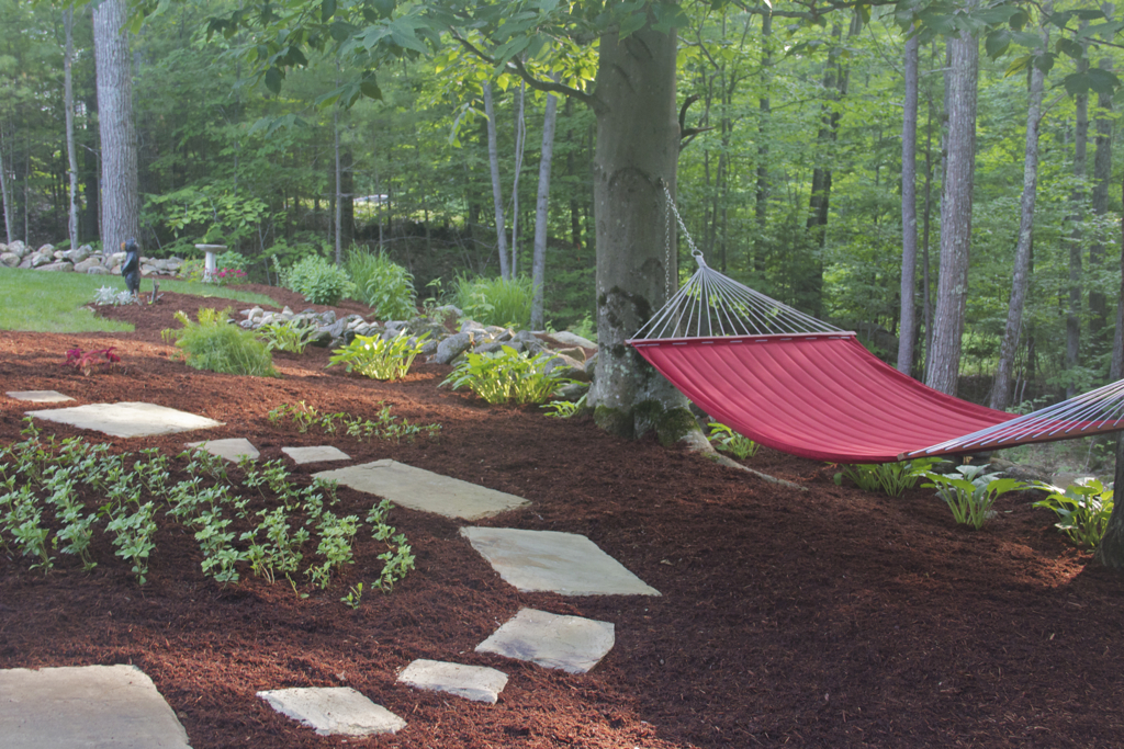 Nothing like a fresh layer of mulch to neaten things up...