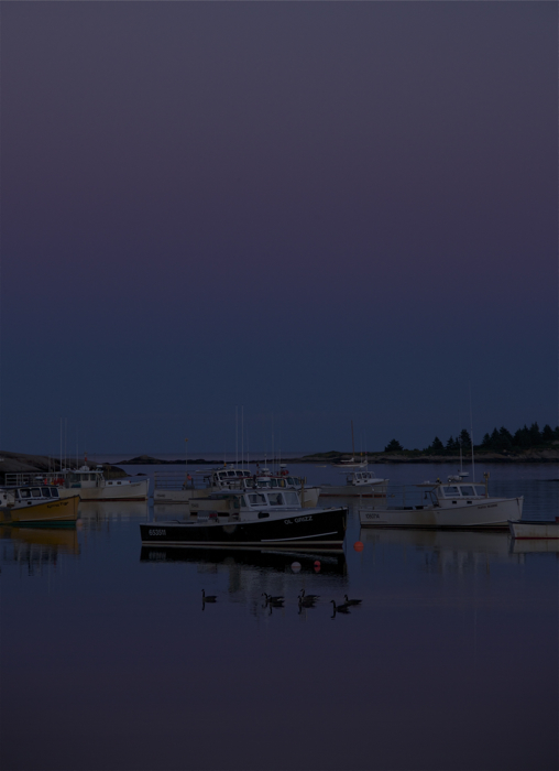Love the night colors in this harbor...