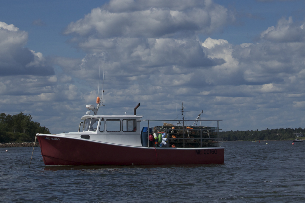 Nothing says Maine like a lobster boat...
