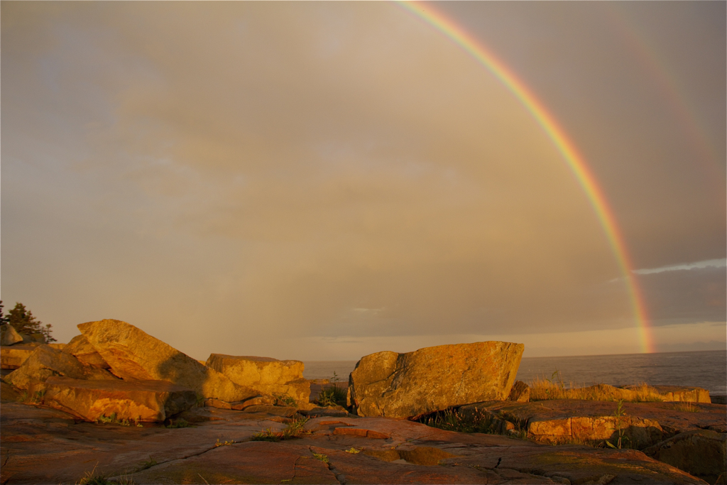 Wonder if the golden hue of the rocks means the pot of gold is close by...