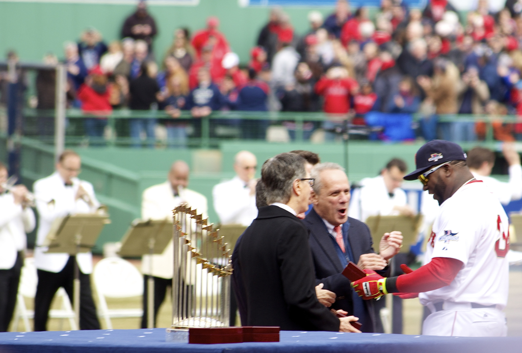 Papi getting one of his two World Series rings :)