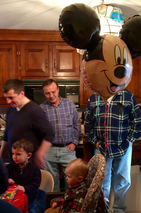 Owen's 1st birthday with Steve as Mickey :)