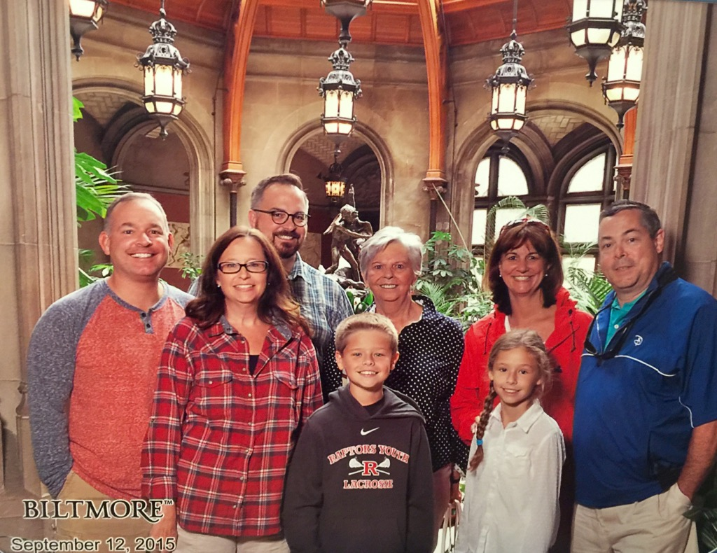 Family Photo at the Biltmore - wish Dad had come with us!