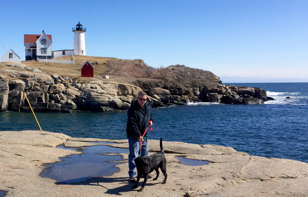 Lucy's first visit to the Nubble...