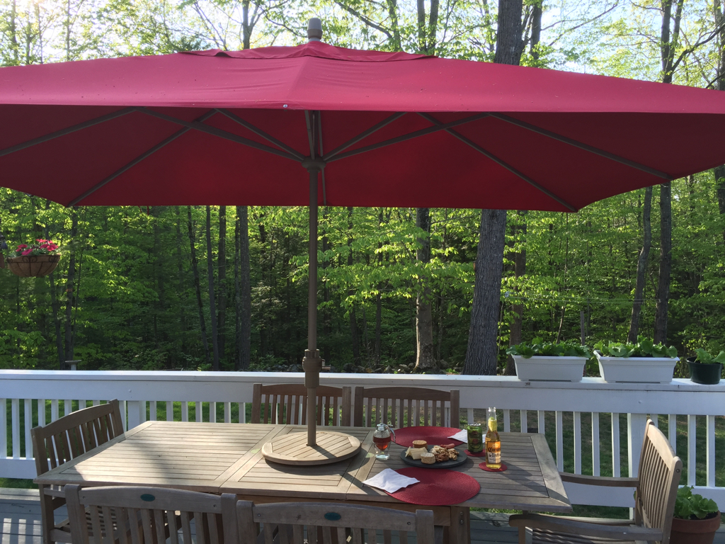 Beautiful night for the first of the season Happy Hour on the deck. Happy Friday!