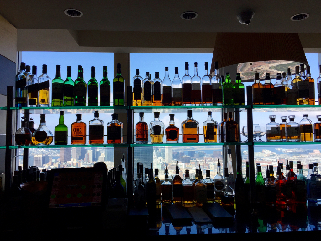 From the country to the city... A drink with a view at the Boston\'s Top of the Hub.