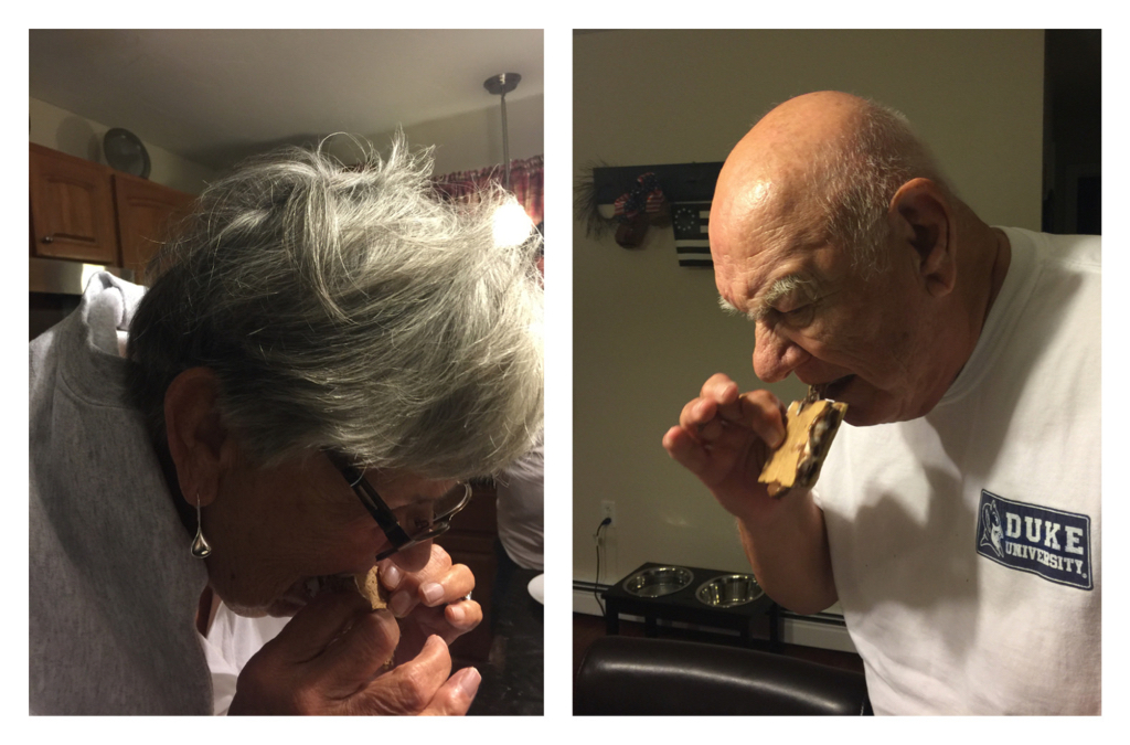 Mom and Dad's first ever s'mores...