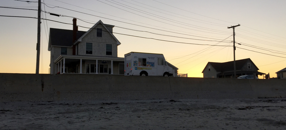 Nothing says summer like the ice cream truck on the beach at sunset...