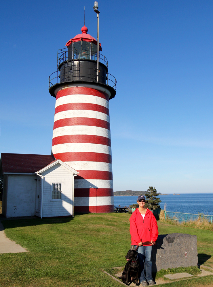 Introducing Lucy to West Quoddy Head Lighthouse - eastern most point in US