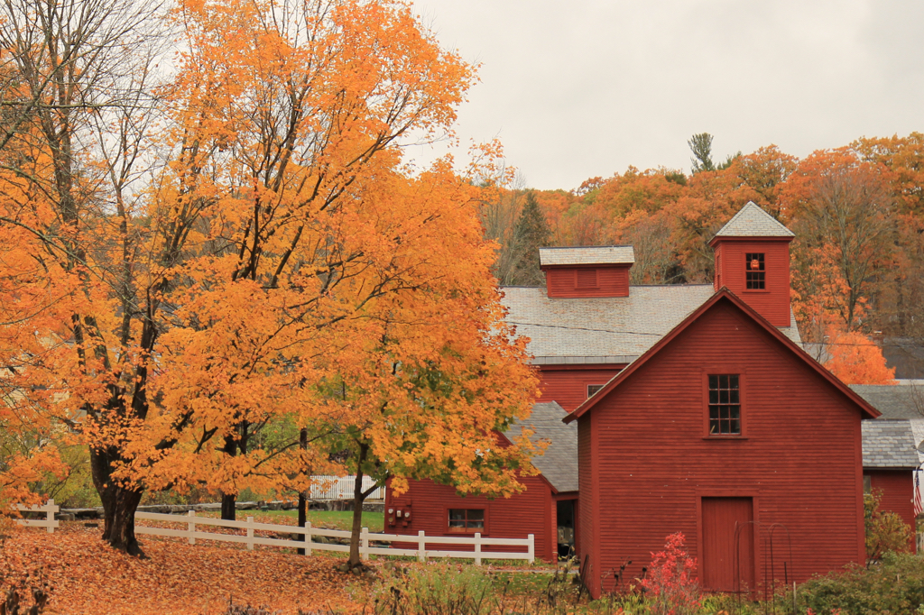 Nothing says New England like a barn in the fall...