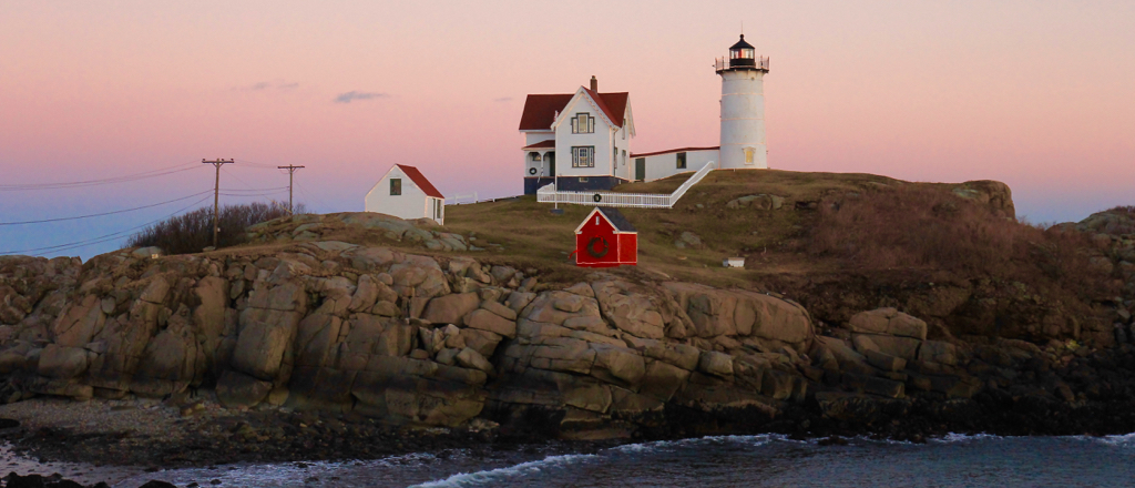 The Nubble at dusk Tuesday night