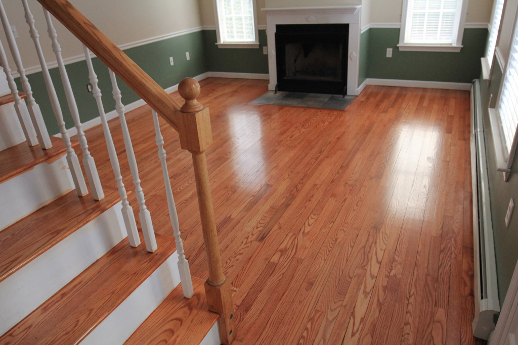 1st floor hardwoods refinished and now the fun job of putting everything back together...