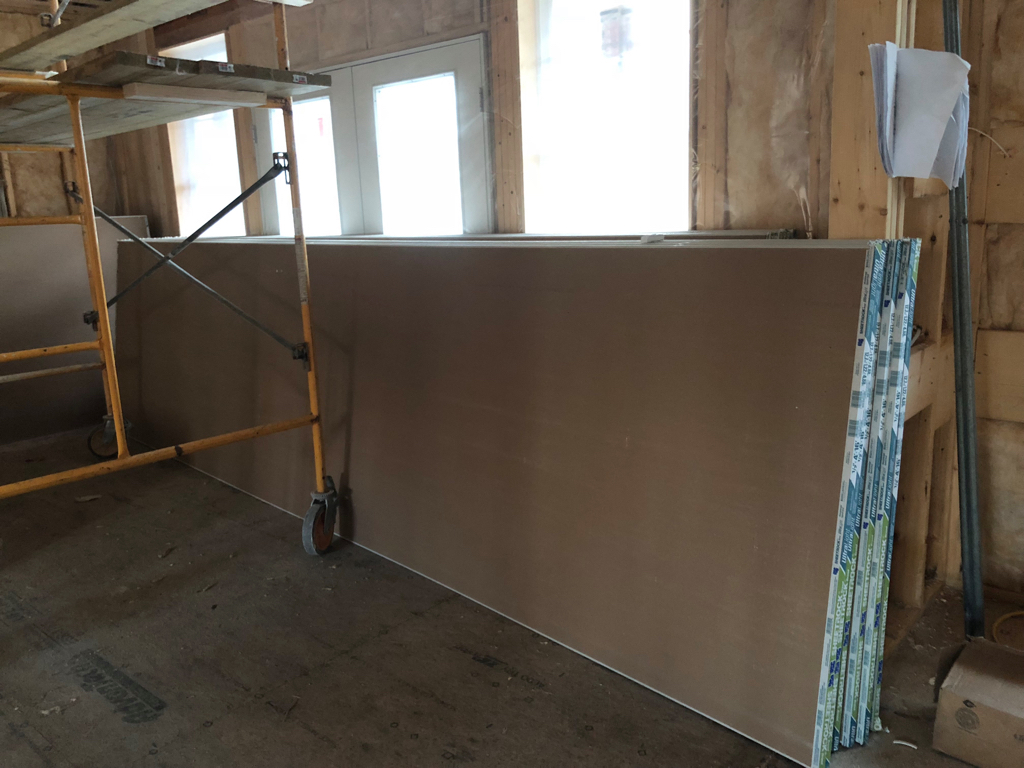 We're sheetrock ready.... and it's the biggest sheetrock I've ever seen!