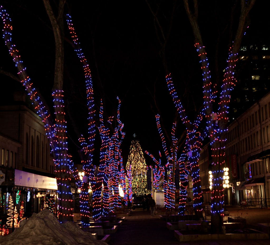 Fanueil Hall light show...