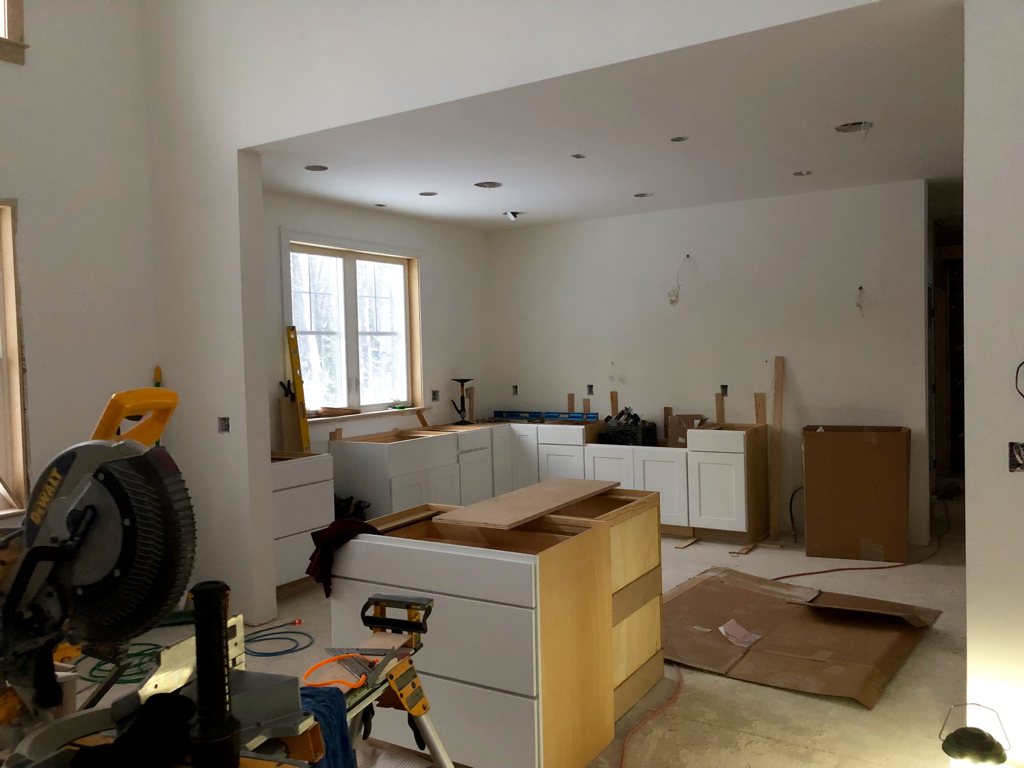 Lower cabinets are in - kitchen is starting to come together!